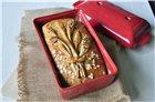 Bread mould in red ceramic - 28x15 cm