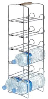 Free-standing bottle holder for 12 bottles