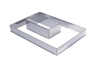 Rectangular pastry-making frame