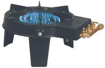 Cast iron gas stove with 3 taps