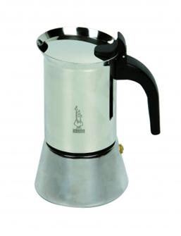 Italian coffee maker in stainless steel - 10 cups