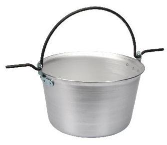 Aluminium cauldron 120 litres