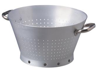 Conical colander in aluminium 36 cm