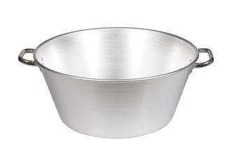 Aluminium basin for grease and jam - 47 litres