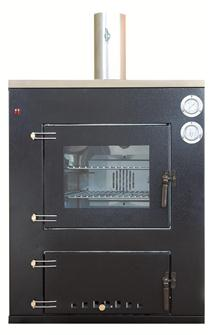 Fitted wood oven 80x45 cm