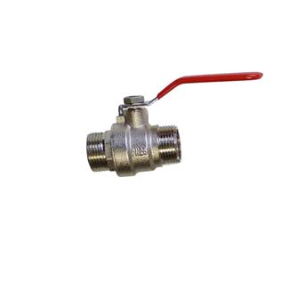 "Bronze and stainless steel quarter turn valve - 3/4"""" (20/27) - male - male"