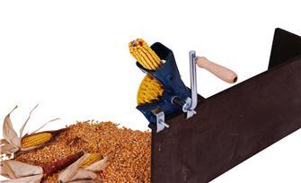 Hand turned corn peeler
