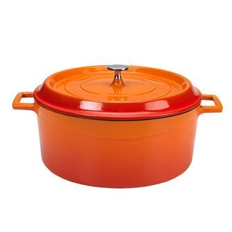 Round 28 cm orange casserole dish