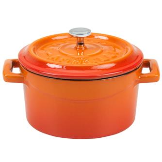 Mini casserole dish 10 cm in cast iron - orange