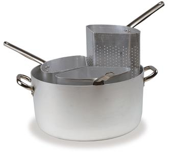 Aluminium pasta pot - 38 cm - with 3 baskets