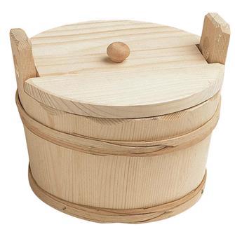 Round potato basket with a lid - 17 cm