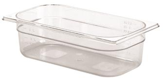 BPA free gastronorm container 1/3 in copolyester. Height 10 cm.