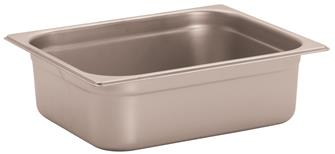 Stainless steel gastronorm container 1/2. Height: 10 cm EN-631