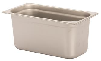 Stainless steel gastronorm container 1/3. Height: 15 cm EN-631