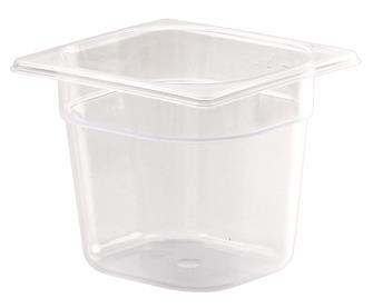 Gastronorm container 1/6 in polypropylene. Height 15 cm