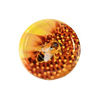 Twist-off lids Bee with pollen - 63 mm by 10