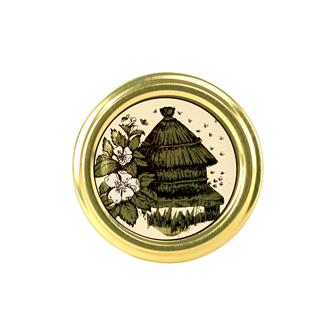 Beehive honey jar lids - 63 mm by 10