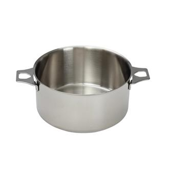 Stainless steel saucepan 18 cm without a lifting handle