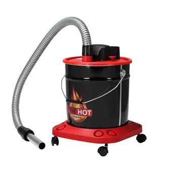 Hot ash vacuum cleaner on wheels