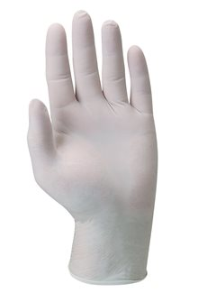 Powder-free latex gloves by 100