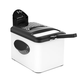 Electric fryer 3.5l white lacquered steel