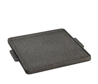 Cast iron plate (plancha) - reversible - 40x40 cm