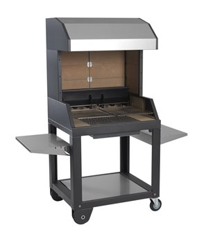 Wood barbecue - 94 cm - with a hood