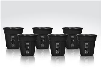 Set of 6 black Bialetti cups