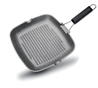 Grilling pan 24x24 cm - induction - stone coating
