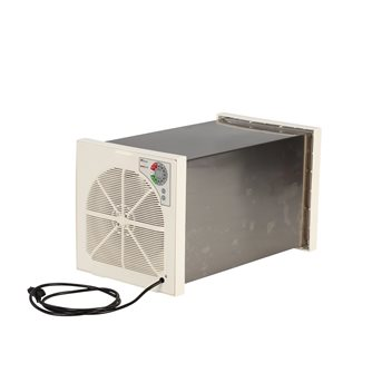 Tunnel food dehydrator in stainless steel with 6 trays