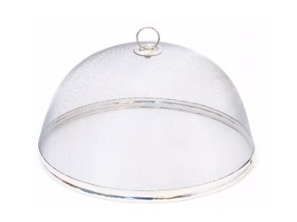 Bell with cheese and cakes stainless steel mesh 29 cm