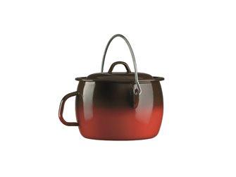 Bordeaux pot flame enamelled with handle 28 cm