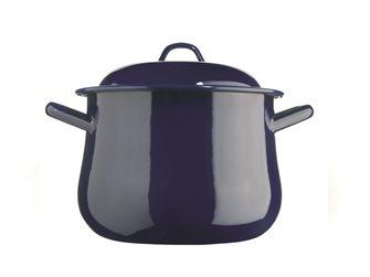 Blue enameled cooking pot 32 cm