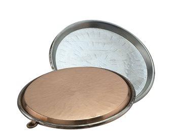 Copper socca dish 45 cm