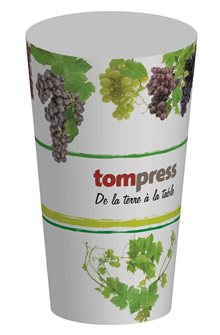 Gobelet réutilisable Tom Press motif vigne et raisin