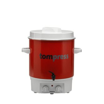 Enamelled electric steriliser with a tap and timer - Tom Press