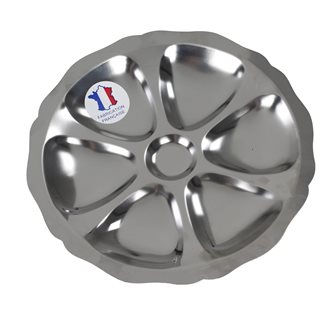 Inox plate oyster 25 cm