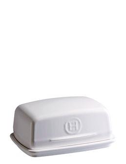 White Ceramic Butter Dish Emile Henry Flour