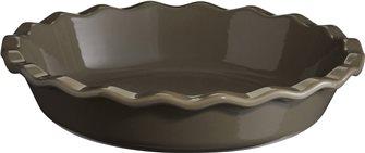Silex Emile Henry gray ceramic clafoutis dish