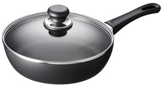 SCANPAN 24 cm Classic sauté pan with lid guaranteed for life