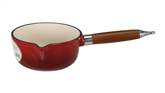 Cast iron round saucepan - red - 16 cm - 1.45 litres