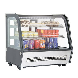 Refrigerated showcase 120 l black