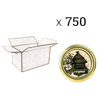 Capsule twist-off honey hive diam 82 by 750