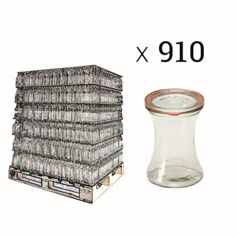 Presentation jars Weck 370 ml per pallet 910