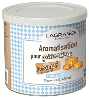 Additional flavour for yoghurt machine - caramel