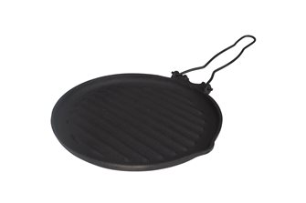 Round grill 235mm cast iron folding handle