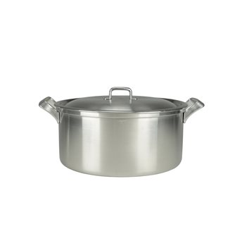 Aluminum casserole with square edge and aluminum handles diameter 40 cm