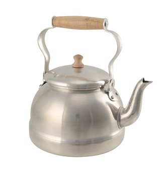 2.5 liter aluminum kettle with wooden handle