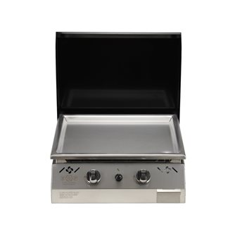 Plancha gas 6 kW stainless steel plate 55x45 coating stainless steel anti-trace hood black