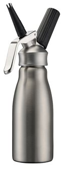 Professional stainless steel 1 litre siphon for whipped cream and mousses
